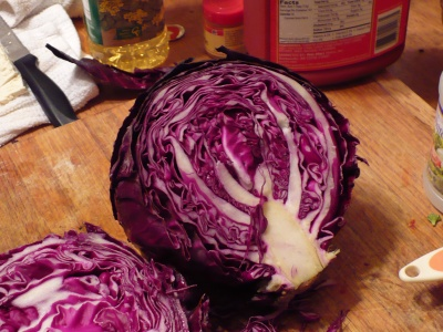 Cabbage Sliced in Half