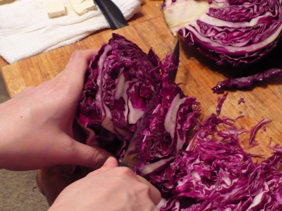 Shredding a Cabbage
