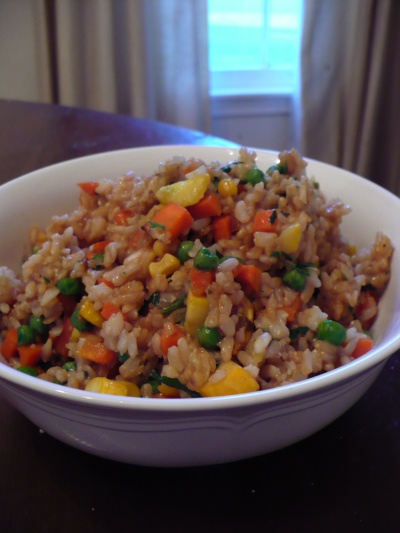 Gluten Free Fried Brown Rice Recipe ~ Recipe from The Gluten-Free ...