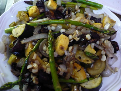 Gluten Free Roasted Vegetables over Brown Rice Recipe