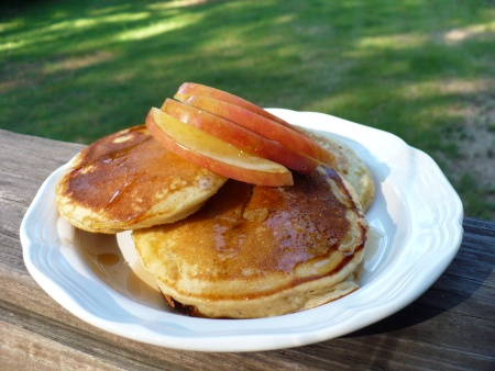 Gluten Free Spiced Apple Pancakes