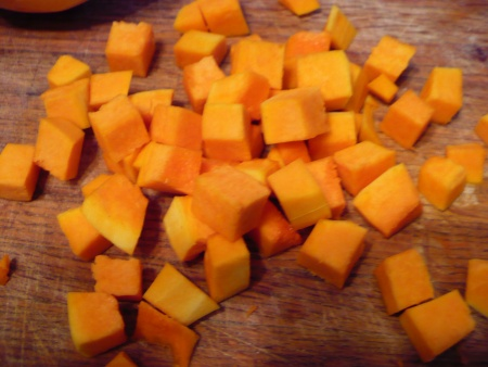 Cube the butternut