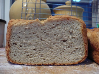 Cross Section of Bread Machine Loaf