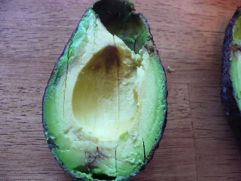 Slice the Avocado Vertically