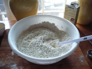 A big batch of gluten free all purpose flour mix